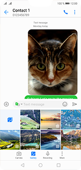 Huawei P20 Lite - MMS - Sending a picture message - Step 19