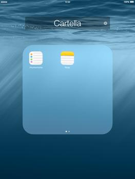 Apple iPad mini iOS 8 - Operazioni iniziali - personalizzazione della schermata iniziale - Fase 7