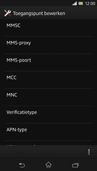 Sony C6603 Xperia Z - MMS - handmatig instellen - Stap 11