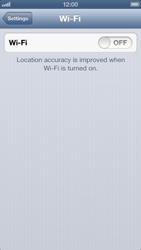 Apple iPhone 5 - WiFi - WiFi configuration - Step 4