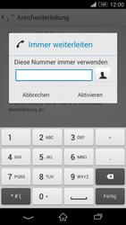 Sony Xperia Z3 - Anrufe - Rufumleitungen setzen und löschen - 7 / 9