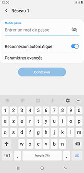 Samsung Galaxy J6 Plus - Wifi - configuration manuelle - Étape 7