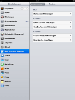 Apple iPad 2 - E-Mail - Konto einrichten - Schritt 6