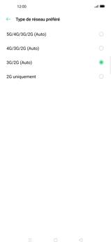 Oppo Find X2 Pro - Internet et connexion - Activer la 4G - Étape 7