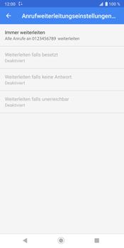 Sony Xperia XZ3 - Anrufe - Rufumleitungen setzen und löschen - Schritt 11