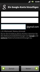 Sony Xperia U - Apps - Konto anlegen und einrichten - Schritt 7