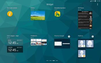 Samsung T805 Galaxy Tab S - Operazioni iniziali - Installazione di widget e applicazioni nella schermata iniziale - Fase 5