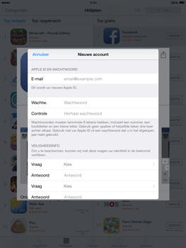 Apple iPad 2 iOS 8 - Applicaties - Account aanmaken - Stap 12