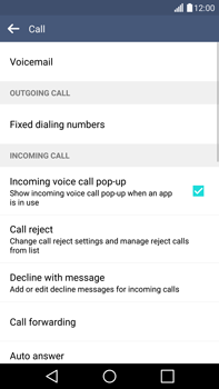 LG H815 G4 - Voicemail - Manual configuration - Step 5