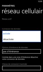 Nokia Lumia 625 - Internet et connexion - Désactiver la connexion Internet - Étape 6