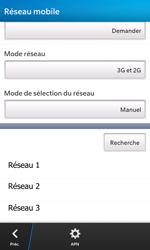 BlackBerry Z10 - Réseau - Sélection manuelle du réseau - Étape 9