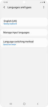 Samsung Galaxy S20 5G - Getting started - How to add a keyboard language - Step 9