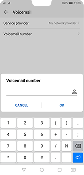 Huawei P20 Android Pie - Voicemail - Manual configuration - Step 8