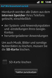 Sony Xperia Go - Fehlerbehebung - Handy zurücksetzen - 8 / 10