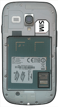 Samsung I8190 Galaxy S3 Mini - SIM-Karte - Einlegen - Schritt 4