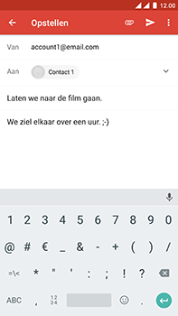 OnePlus 3 - Android Nougat - E-mail - hoe te versturen - Stap 9