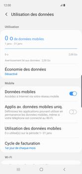 Samsung Galaxy S10 - Internet et roaming de données - Comment vérifier que la connexion des données est activée - Étape 7