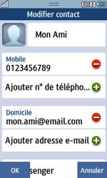 Samsung Wave 723 - Contact, Appels, SMS/MMS - Ajouter un contact - Étape 14