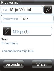 HTC F3188 Smart - E-mail - hoe te versturen - Stap 12