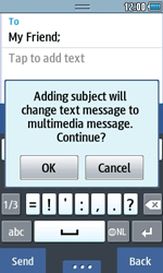 Samsung S5250 Wave 525 - MMS - Sending pictures - Step 9