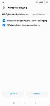 Huawei P20 Lite - E-Mail - Manuelle Konfiguration - Schritt 17