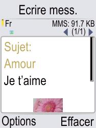 Doro Phone Easy 621 - Contact, Appels, SMS/MMS - Envoyer un MMS - Étape 15