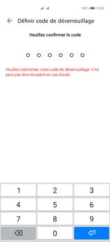 Huawei P40 Pro - Sécuriser votre mobile - Activer le code de verrouillage - Étape 6