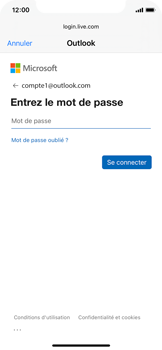 Apple iPhone 11 Pro - iOS 14 - E-mail - 032c. Email wizard - Outlook - Étape 7