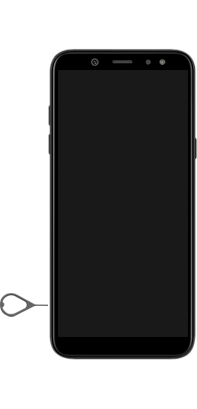 Samsung Galaxy A6 - Toestel - simkaart plaatsen - Stap 6