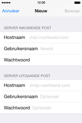 Apple iPhone 4 iOS 7 - E-mail - Account instellen (POP3 zonder SMTP-verificatie) - Stap 11