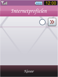 Samsung S7070 Diva - internet - handmatig instellen - stap 4