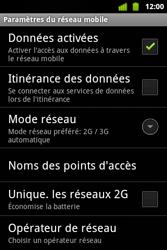 Alcatel OT-983 - Internet et roaming de données - Désactivation du roaming de données - Étape 7