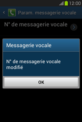 Samsung S6810P Galaxy Fame - Messagerie vocale - configuration manuelle - Étape 10