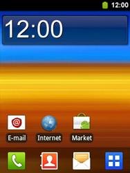 Samsung S5360 Galaxy Y - E-mail - Handmatig instellen - Stap 1
