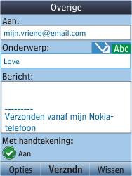 Nokia C2-05 - E-mail - E-mail versturen - Stap 10