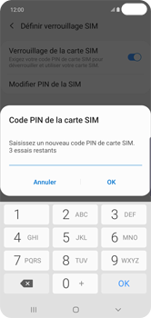 Samsung Galaxy S10 Plus - Sécuriser votre mobile - Personnaliser le code PIN de votre carte SIM - Étape 9