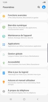 Samsung Galaxy Note 10 Plus 5G - Téléphone mobile - Réinitialisation de la configuration d