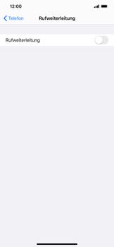 Apple iPhone XS Max - iOS 13 - Anrufe - Rufumleitungen setzen und löschen - Schritt 5