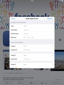 Apple ipad-air-met-ios-11-model-a1475 - Applicaties - Account aanmaken - Stap 10