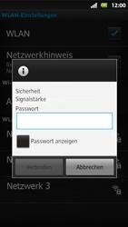 Sony Xperia Sola - WLAN - Manuelle Konfiguration - Schritt 8