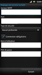 Sony ST25i Xperia U - E-mail - Configuration manuelle - Étape 12