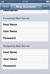 Apple iPhone 3GS - E-mail - Manual configuration - Step 15