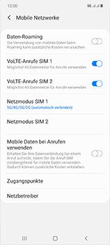 Samsung Galaxy Note 20 5G - Netzwerk - So aktivieren Sie eine 5G-Verbindung - Schritt 8