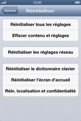 Apple iPhone 4S - Téléphone mobile - Réinitialisation de la configuration d
