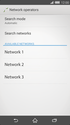 Sony Xperia Z2 - Network - Manual network selection - Step 8
