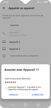Alcatel 1S (2020) - Internet et connexion - Connexion avec un équipement multimédia via Bluetooth - Étape 10