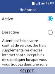Alcatel 3088X - Aller plus loin - Désactiver les données à l'étranger - Étape 6