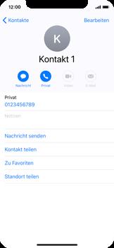 Apple iPhone X - Kontakte - Neuen Kontakt hinzufügen - 9 / 13