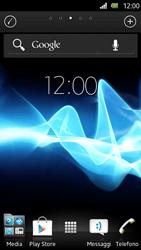 Sony Xperia U - Operazioni iniziali - Installazione di widget e applicazioni nella schermata iniziale - Fase 3