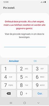 Samsung Galaxy A40 - Beveiliging - stel in of wijzig pincode voor je toestel - Stap 9